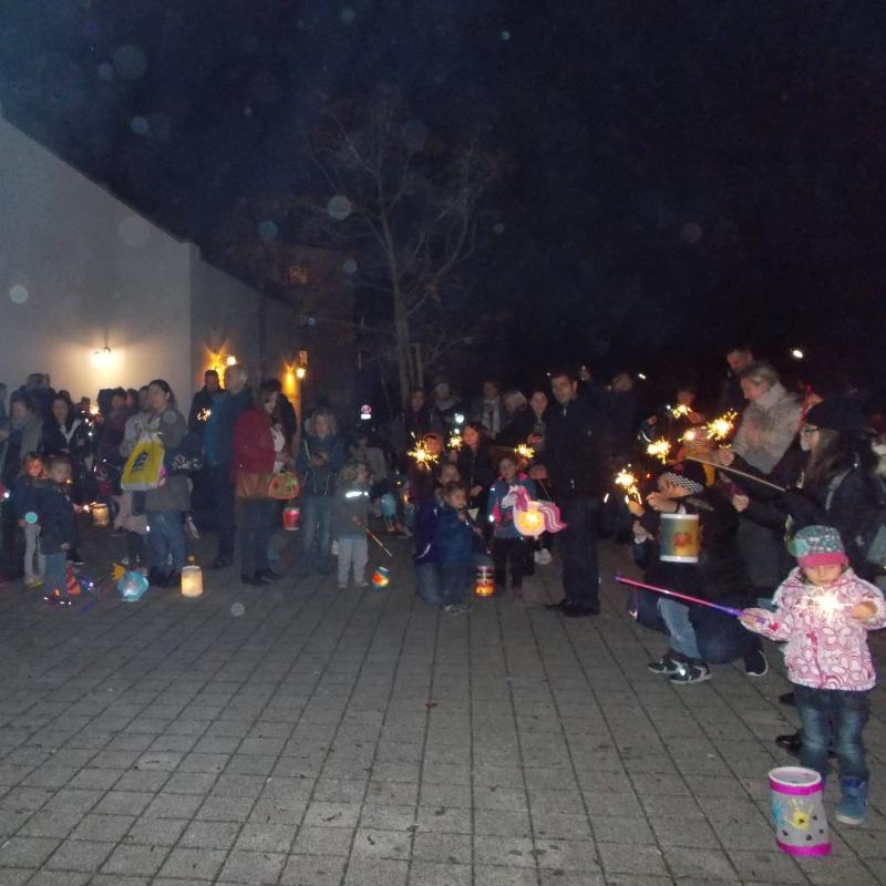 St. Martins Feier gemeinsam mit den Kindern des Kindergarten Benjamin