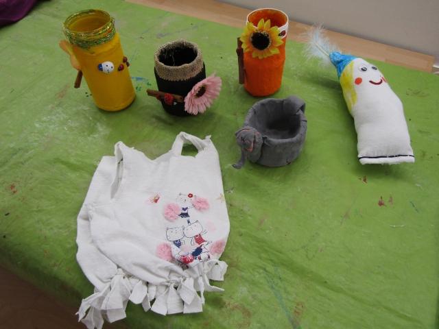 Hortkinder schaffen kleine Kunstwerke
